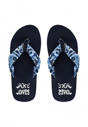 Сланцы Jack & Jones. Цвет: синий