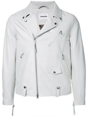 Байкерская куртка с молниями monkey time. Цвет: белый