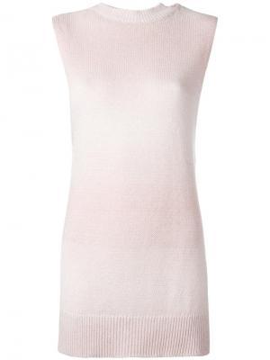 Топ с высокой горловиной Lamberto Losani. Цвет: розовый и фиолетовый
