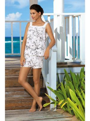 Пижама Mia-Mia. Цвет: белый, черный