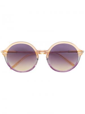 Солнцезащитные очки в круглой оправе Pomellato. Цвет: жёлтый и оранжевый