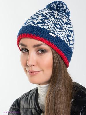 Шапка Viking caps&gloves. Цвет: синий, красный, белый