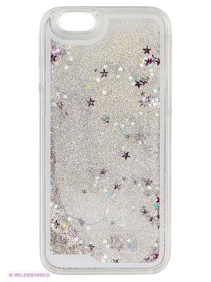 Чехол для iPhone 6/6s Liquid Stars (серебряный) Kawaii Factory. Цвет: серебристый