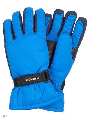 Перчатки Columbia. Цвет: голубой