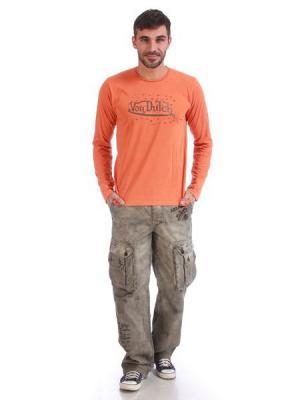 Лонгслив мужской VON DUTCH. Цвет: оранжевый