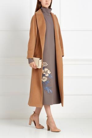 Шерстяное платье ARnouveau. Цвет: коричневый