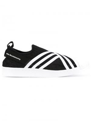 Кеды-слипон Superstar Adidas By White Mountaineering. Цвет: чёрный