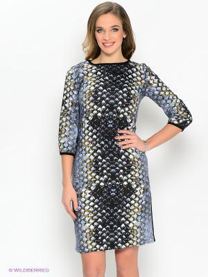Платье IMAGO. Цвет: синий, горчичный, черный