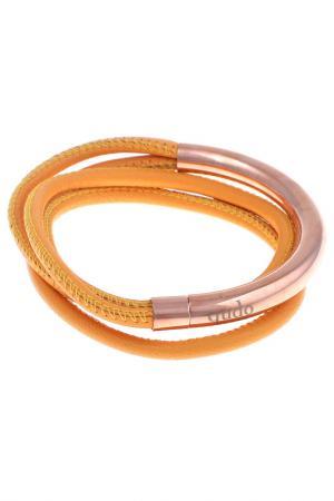 Браслет Qudo. Цвет: оранжевый, розовое золото
