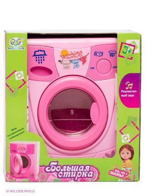 Стиральная машинка Домашний быт S-S. Цвет: розовый