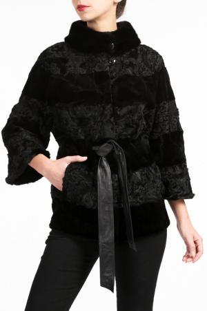 Полушубок Manakas. Цвет: черный
