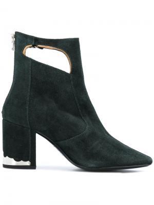 Ботинки с вырезными деталями Toga Pulla. Цвет: зелёный