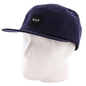 Бейсболка пятипанелька  Core Box Logo Volley Navy Huf. Цвет: синий,фиолетовый