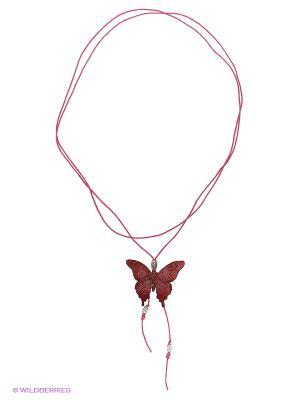 Кулон-галстук Бабочка Мастер ГРиСС. Цвет: красный