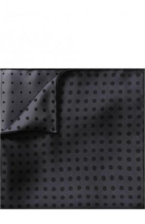 Шелковый платок с узором Lanvin. Цвет: серый