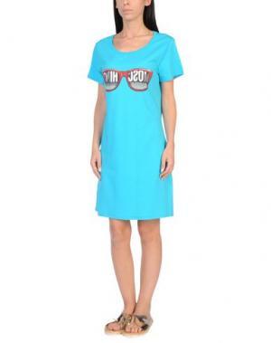Пляжное платье MOSCHINO. Цвет: лазурный