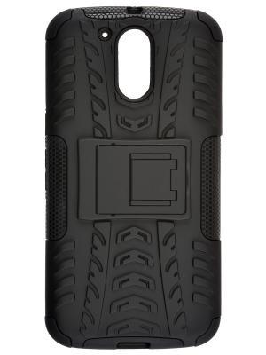Накладка skinBOX Defender case для Motorola Moto G4 Plus.. Цвет: черный