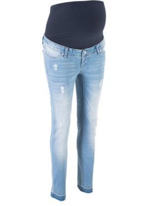 Джинсы-дудочки для беременных (голубой) bonprix. Цвет: голубой
