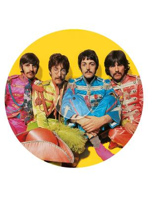 Clementoni. The Beatles. Пазл Пластинки. With a Little Help from My Friends. Clementoni. Цвет: желтый, голубой, розовый
