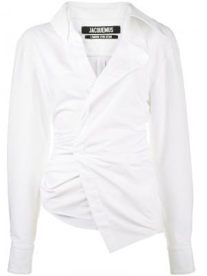 Рубашка La Chemise Elie Jacquemus. Цвет: белый