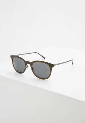 Очки солнцезащитные Burberry. Цвет: хаки