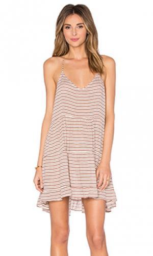 Платье bahamas Acacia Swimwear. Цвет: коричневый