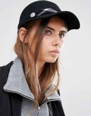 Calvin Klein Структурированная кепка с клетчатой отделкой. Цвет: черный