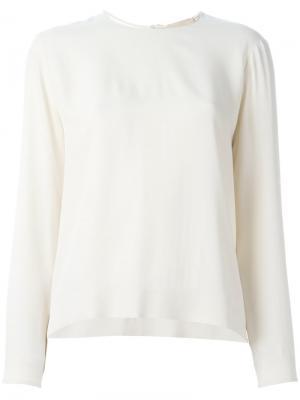Блузка с застежкой замочная скважина Erika Cavallini. Цвет: телесный