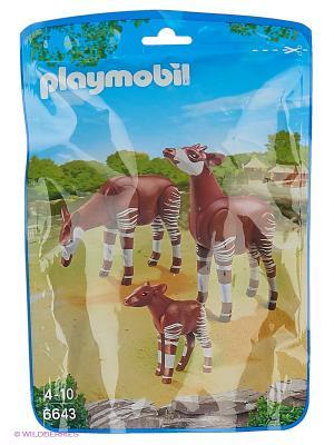 Зоопарк: Семья Окапи Playmobil. Цвет: белый, коричневый