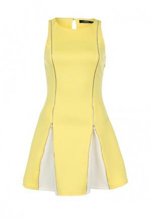 Платье Zalora. Цвет: желтый