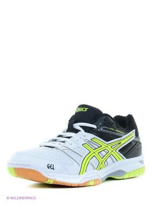 Волейбольные кроссовки GEL-ROCKET 7 ASICS. Цвет: белый, черный, салатовый