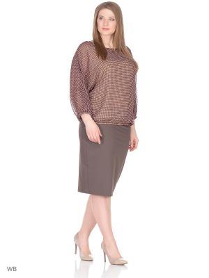 Блузка BARTELLI. Цвет: коричневый, бежевый