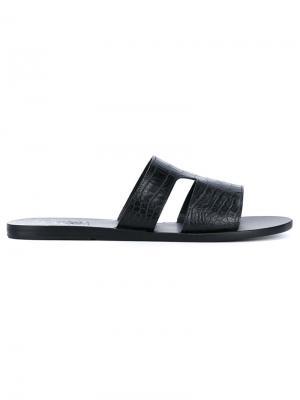 Фактурыне сандалии Ancient Greek Sandals. Цвет: чёрный