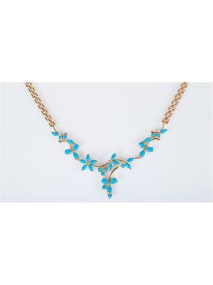 Колье с бирюзой Lotus Jewelry. Цвет: синий