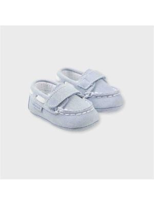 Туфли-мокасины Tutto Piccolo. Цвет: светло-голубой