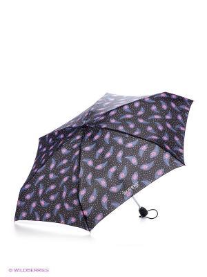 Зонт Isotoner. Цвет: синий, голубой, розовый
