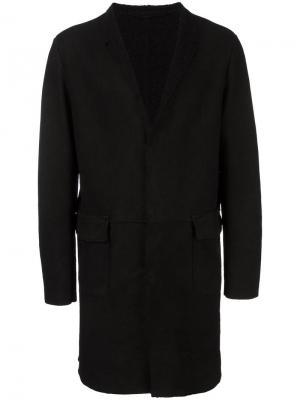 Пальто с зазубренными лацканами Salvatore Santoro. Цвет: чёрный