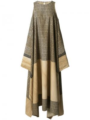 Платье Anuli Uma Wang. Цвет: коричневый