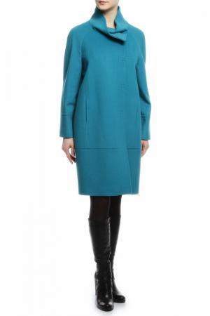 Пальто HERESIS. Цвет: голубой