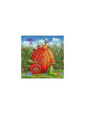 Гобеленовая наволочка  ДОМ ТЫКВА (Е.ШИШКИН) 50х50 см Рапира. Цвет: зеленый, рыжий