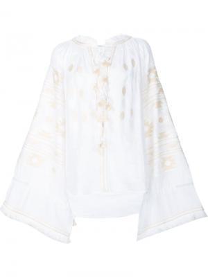 Embroidered tasseled blouse Vita Kin. Цвет: белый