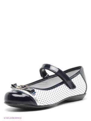 Туфли ELEGAMI. Цвет: белый, темно-синий
