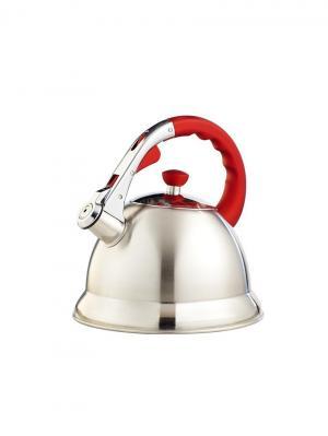 Чайник  TECO 106R-TC. Цвет: серебристый, красный