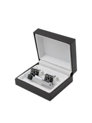 Зажим для галстука и запонки в коробочке Mitya Veselkov. Цвет: серебристый