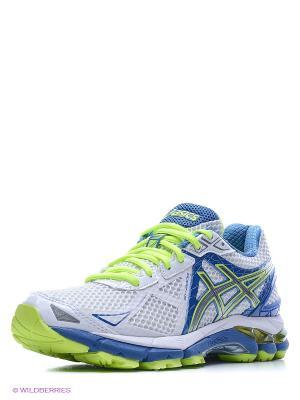 Беговые кроссовки GT-2000 3 ASICS. Цвет: белый, салатовый, голубой