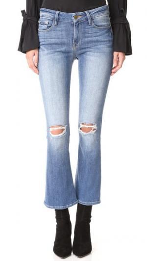 Короткие буткат-джинсы FRAME. Цвет: stony creek