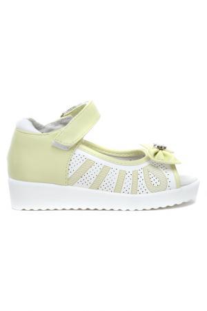 Туфли открытые дошкольные MILTON. Цвет: зеленый