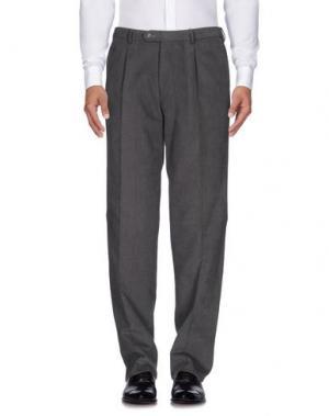 Повседневные брюки LUIGI BIANCHI Mantova. Цвет: серый