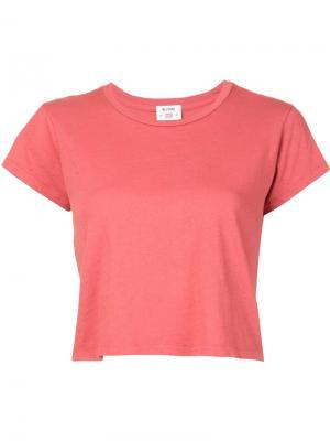 Укороченная футболка Re/Done. Цвет: красный