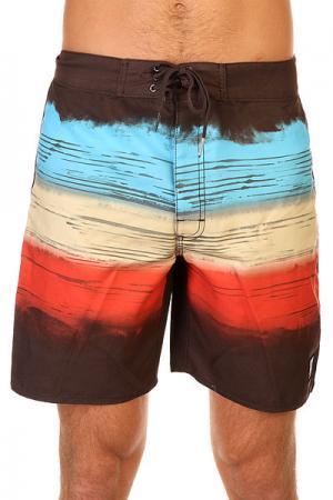 Шорты пляжные  Stripe Arabica Insight. Цвет: черный,голубой,бежевый,оранжевый